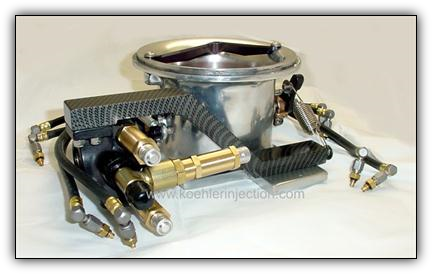 Koehler Enderle throttle body 4 bbl fuel injection.